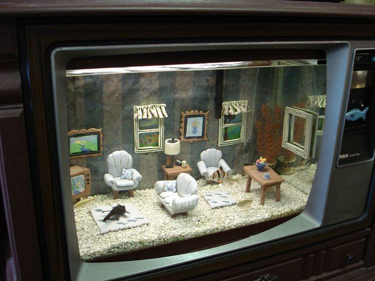 decorazione originale acquario  idee fantastiche, Disegni interni