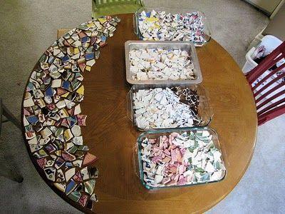 Riciclo creativo piastrelle e piatti rotti idee da copiare