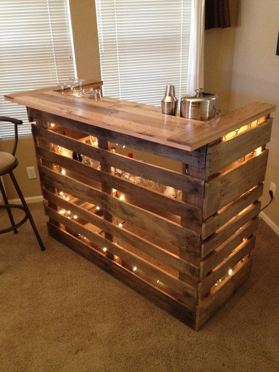 Wet Bar with pallets! Here are 20 inspirational ideas ...