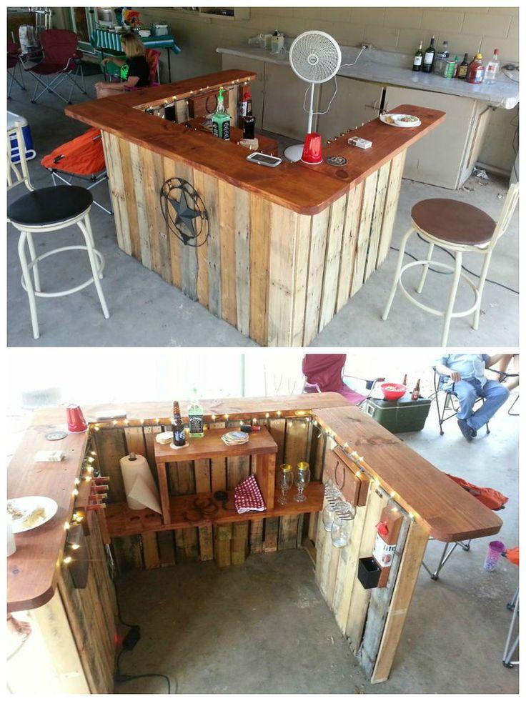 Angolo Bar Con Pallet Ecco 20 Idee Da Cui Trarre Ispirazione