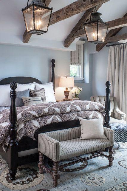 idee camera da letto travi 15