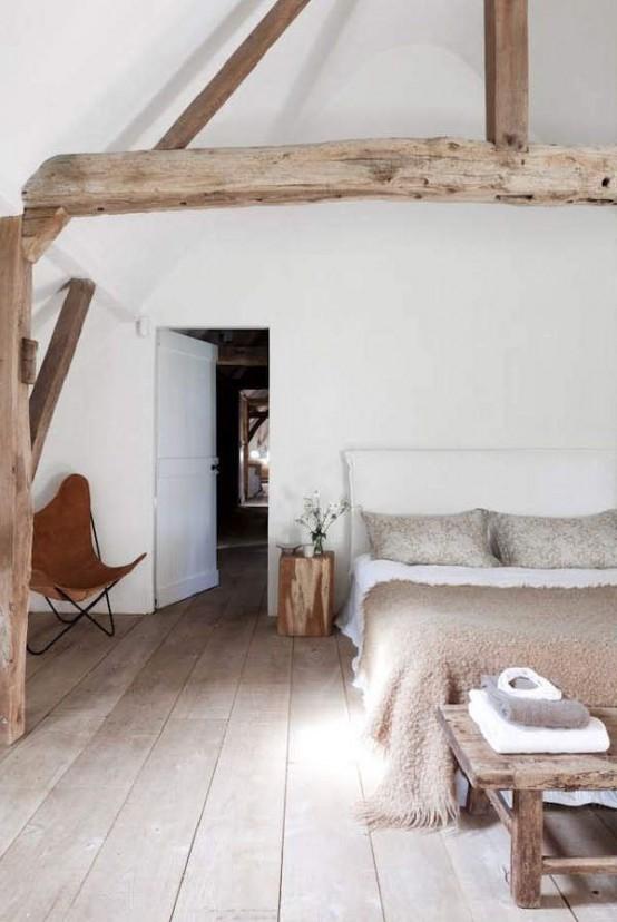 idee camera da letto travi 16