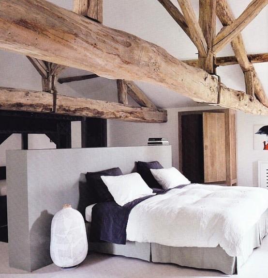 idee camera da letto travi 19