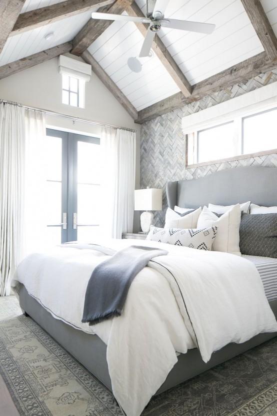 idee camera da letto travi 20