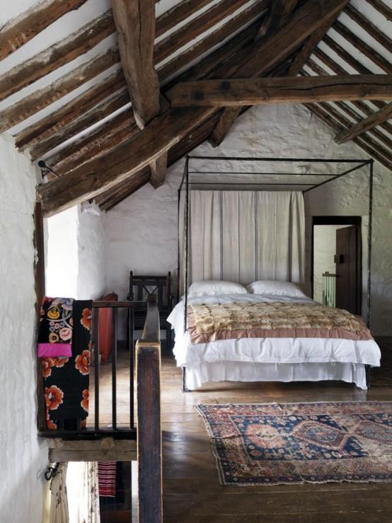 Travi in legno in camera da letto ecco 20 esempi for 8 piani di casa di camera da letto