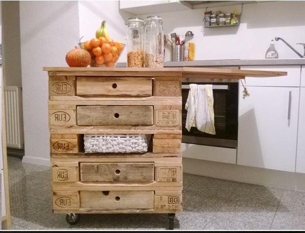 Isola cucina con i pallet 15 idee a cui ispirarsi for Pallet idee arredo