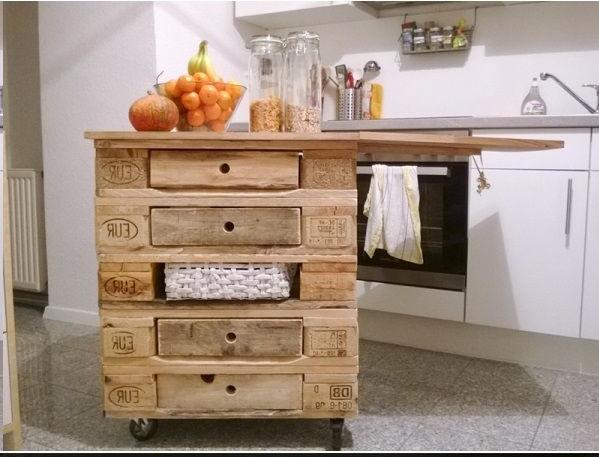 Isola cucina con i pallet 15 idee a cui ispirarsi - Cucine fai da te in legno ...