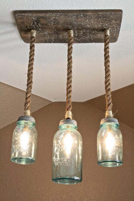Lampadari fai da te molto originali! Ecco 20 idee    -> Lampadari Per Cucina Originali