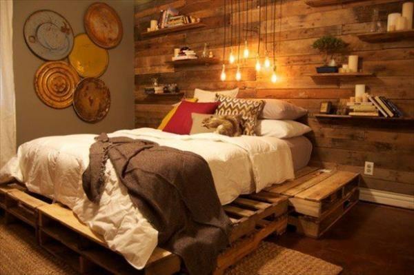 Costruire Un Letto A Castello Fai Da Te : Un letto con i pallet ecco idee da cui trarre ispirazione