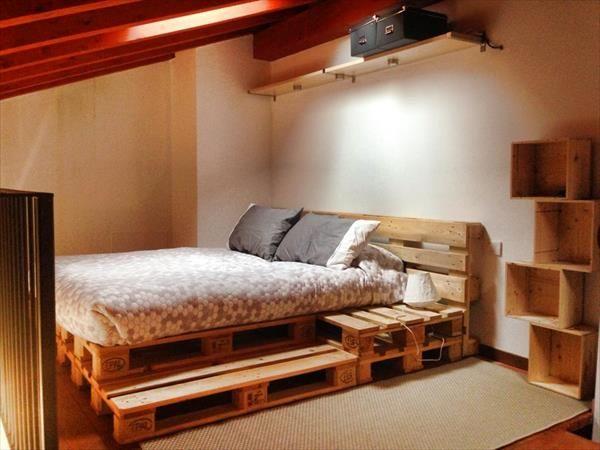Letto Di Pallets : Un letto con i pallet ecco idee da cui trarre ispirazione