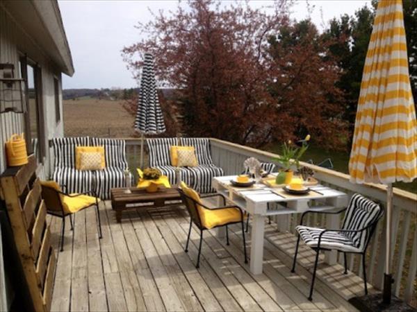 salon de terrasse en bois