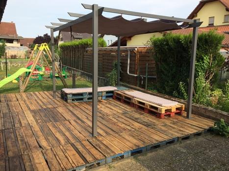 Piso exterior con palets 20 ideas para inspirar a for Bricolaje para jardin