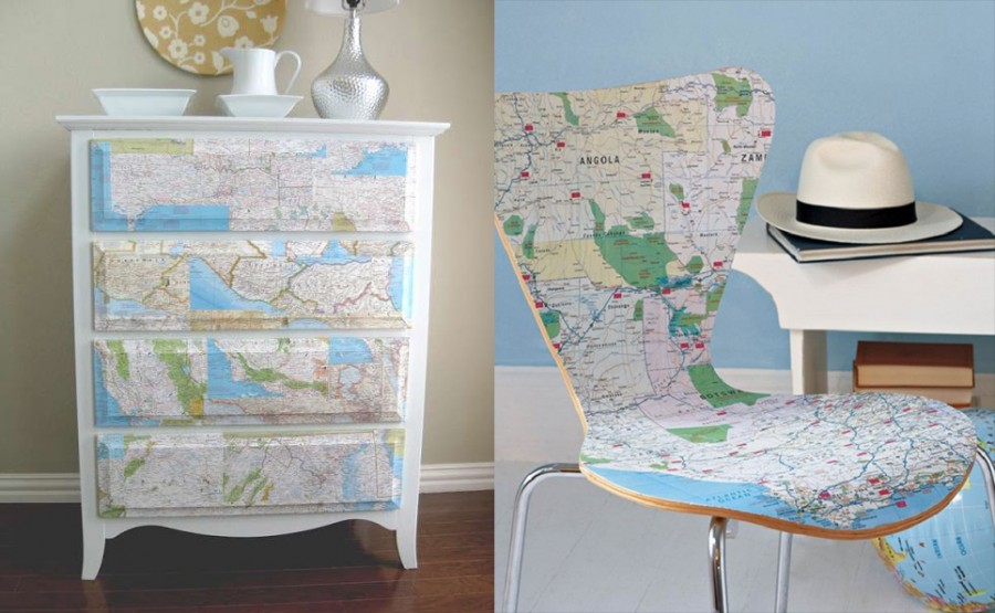 riciclo mappa geografica 21