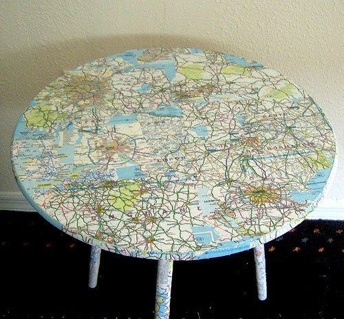 riciclo cartina geografica
