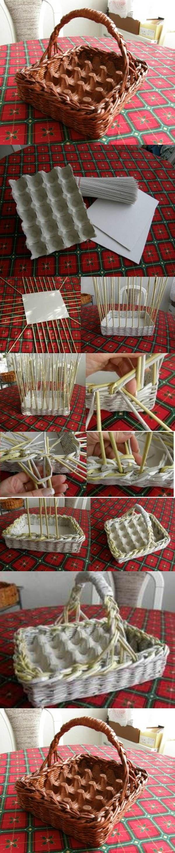 Riciclo creativo scatole delle uova