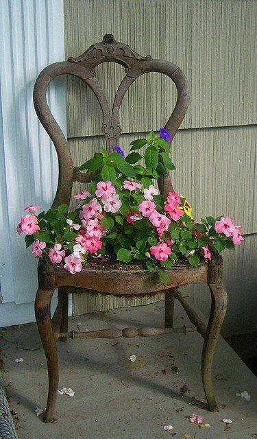 riciclo vecchia sedia 1