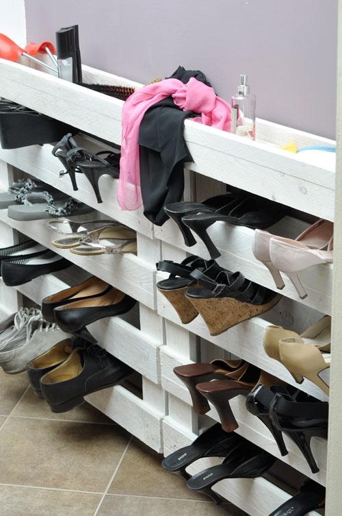 meuble a chaussure design bois
