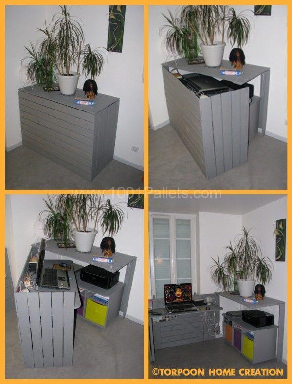 scrivania con pallet 20