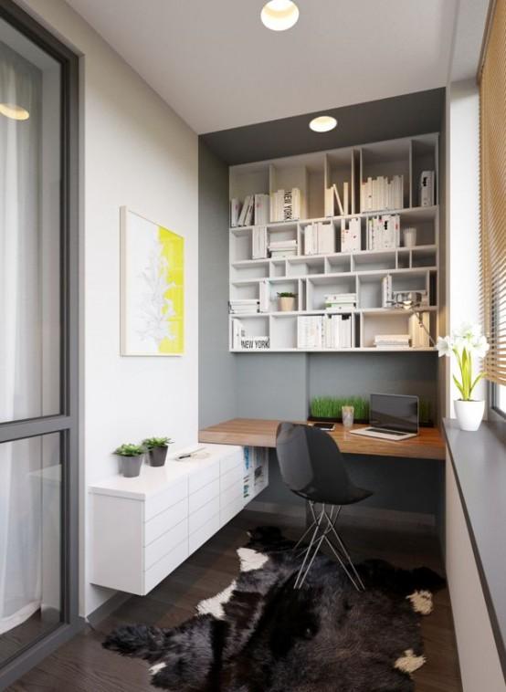Uffici piccoli ma funzionali 33 idee lasciatevi ispirare - Arredare ufficio in casa ...