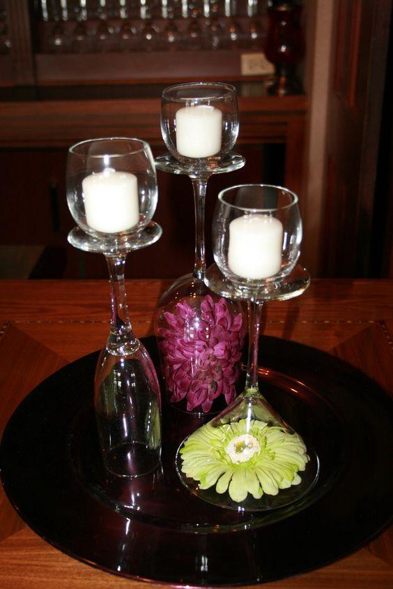 bicchiere candela fai da te 11