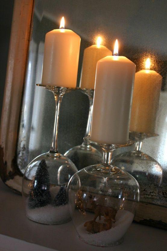 bicchiere candela fai da te 17