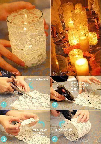 bicchiere candela fai da te 3