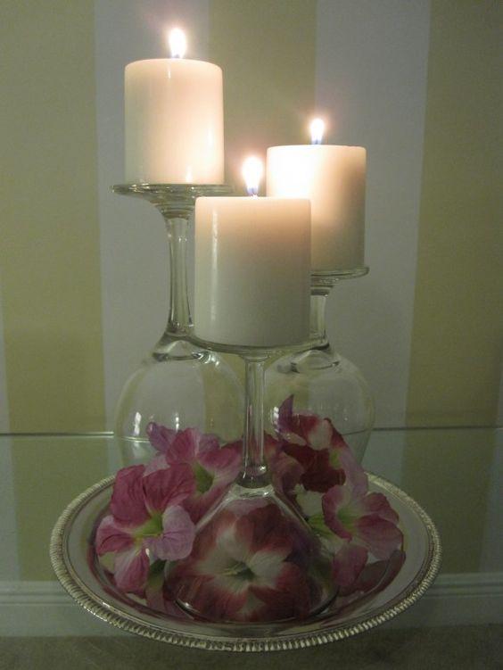 bicchiere candela fai da te 7