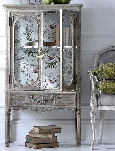 Decorare mobili con carta da parati ecco 20 idee for Decorare stanza shabby chic
