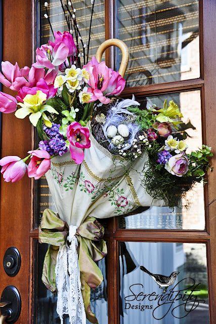 composioni di fiori con ombrello 10