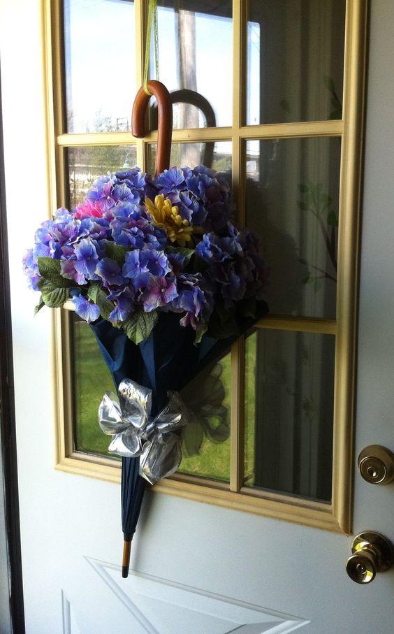 composioni di fiori con ombrello 12