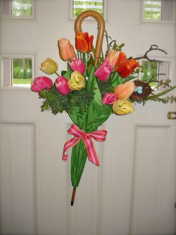 composioni di fiori con ombrello 8