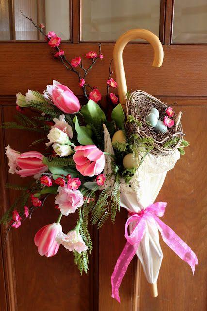composioni di fiori con ombrello 9
