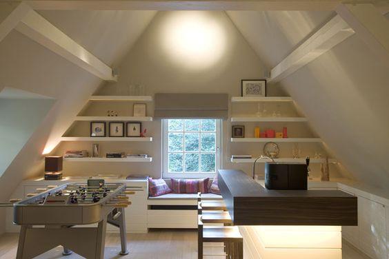 Ottimizzare lo spazio nel sottotetto ecco 20 idee for Arredamento per sottotetto