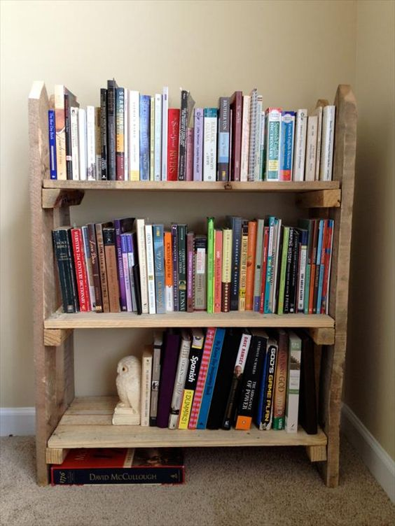 Libreria originale con materiale di riciclo 20 idee for Pallet fai da te