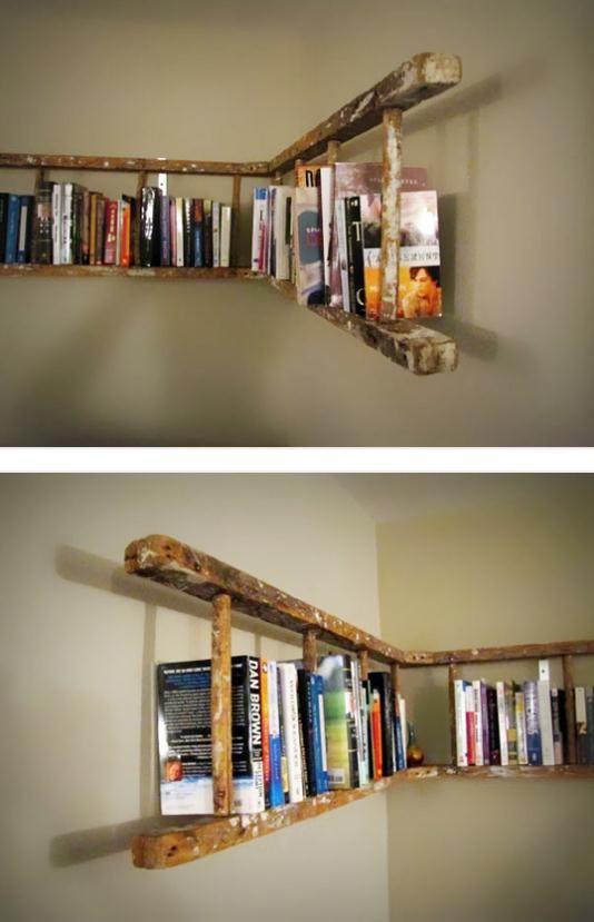Libreria originale con materiale di riciclo 20 idee creative - Idea design casa ...