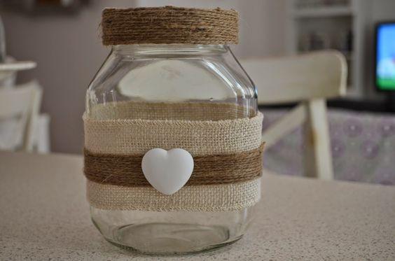 Riciclo creativo barattoli della nutella 21 idee - Come decorare un barattolo ...
