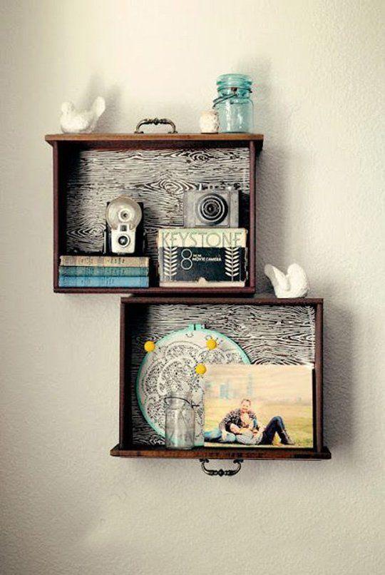 riciclo creativo cassetti comodino 2