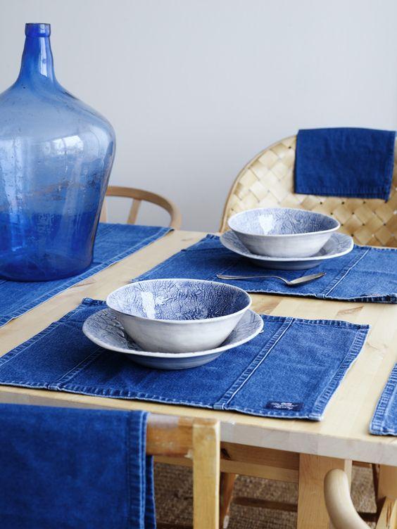 Riciclare jeans per arredare casa 20 idee creative - Idea design casa ...