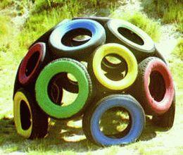 riciclo creativo pneumatici 11