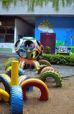 riciclo creativo pneumatici 16