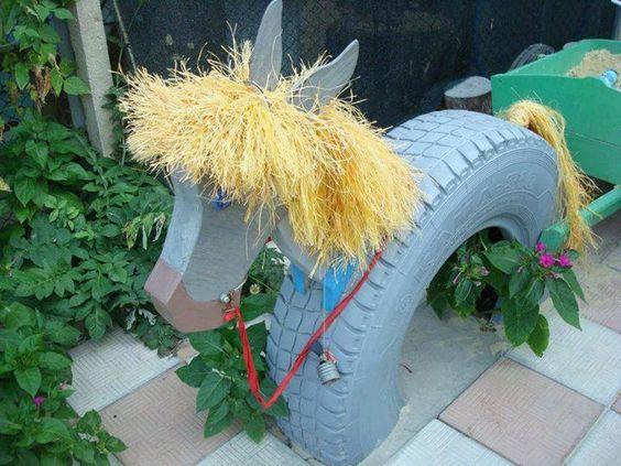 riciclo creativo pneumatici 6