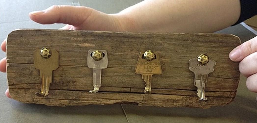riciclo creativo vecchie chiavi 13