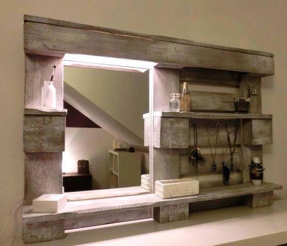 Cornice Specchio Fai Da Te.Specchio Fai Da Te Originale Con Materiale Riciclato 20 Idee