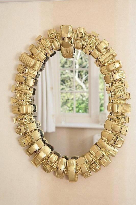 Specchio fai da te originale con materiale riciclato 20 for Design casa fai da te
