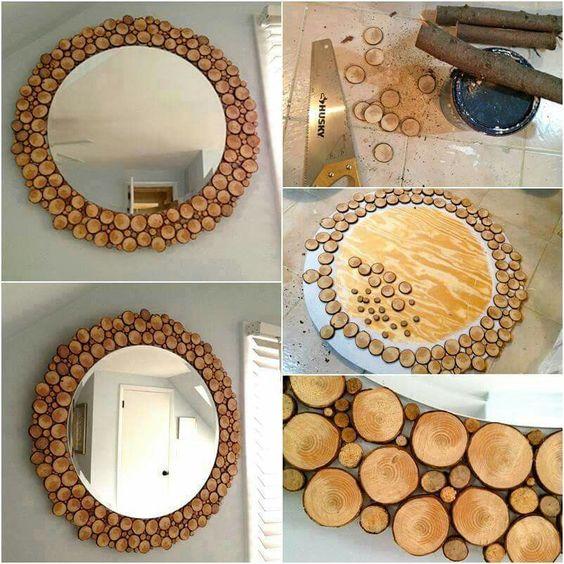 spesso Specchio fai da te originale con materiale riciclato! 20 idee GZ79