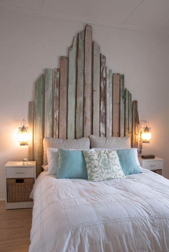 Testata letto fai da te con materiale di riciclo ecco 20 idee - Spalliere da letto ...