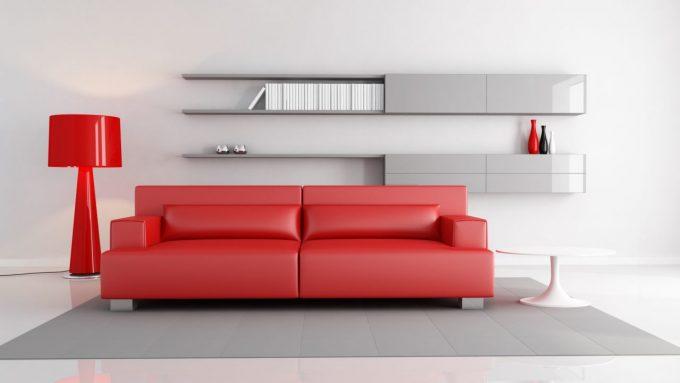 salone bianco e rosso