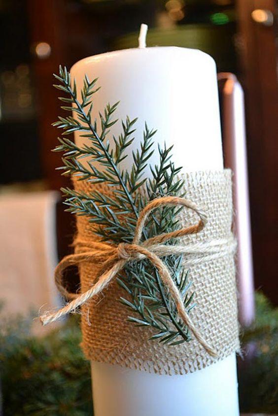 Decorazioni natalizi con le candele ecco 20 idee creative - Decorazioni natalizie con candele ...
