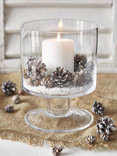 Decorazioni natalizi con le candele