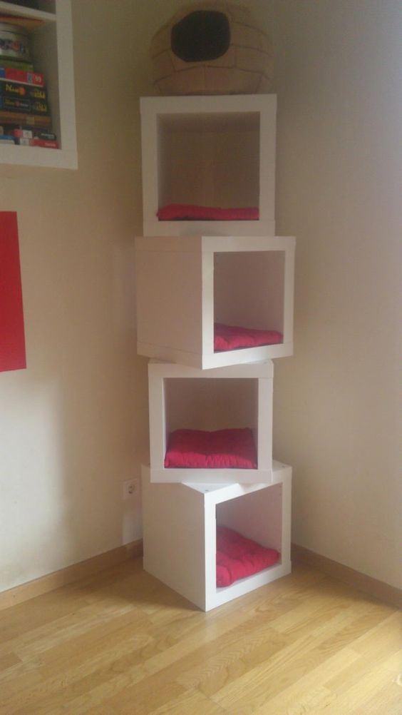 Usare gli scaffali ikea in modo originale 30 idee - Scaffali in legno ikea ...